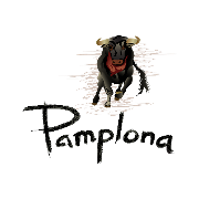 This is the restaurant logo for Pamplona