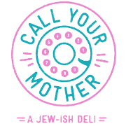 This is the restaurant logo for Call Your Mother: A Jew-ish Deli
