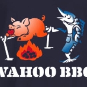 This is the restaurant logo for Wahoo BBQ