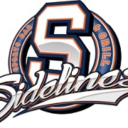 This is the restaurant logo for Sidelines Sports Bar & Grill