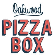 This is the restaurant logo for Oakwood Pizza Box