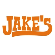 This is the restaurant logo for Jake's BBQ and Catering