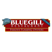 This is the restaurant logo for BLUEGILL Restaurant