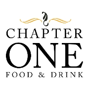 This is the restaurant logo for Chapter One Food and Drink