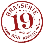 This is the restaurant logo for Brasserie 19
