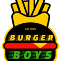 This is the restaurant logo for Burger Boys