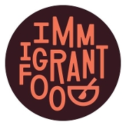 This is the restaurant logo for Immigrant Food
