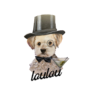 This is the restaurant logo for LouLou