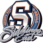 This is the restaurant logo for Sidelines East
