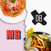 This is the restaurant logo for Mad Bene x DB Grill