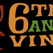 This is the restaurant logo for 6th and Vine Wine Bar and Restaurant