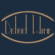 This is the restaurant logo for District Wine
