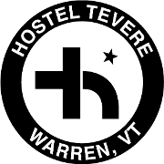 This is the restaurant logo for Hostel Tevere