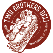 This is the restaurant logo for Two Brothers Deli