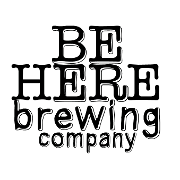 This is the restaurant logo for Be Here Brewing Company