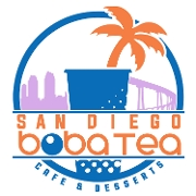 This is the restaurant logo for San Diego Boba Tea Cafe