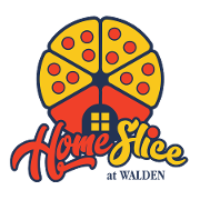 This is the restaurant logo for Home Slice at Walden