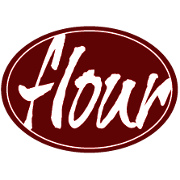 This is the restaurant logo for Flour Restaurant
