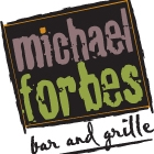 This is the restaurant logo for Michael Forbes Grille