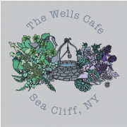 This is the restaurant logo for The Wells Cafe & Apothecary