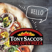 This is the restaurant logo for Tony Sacco's Coal Oven Pizza