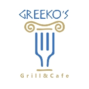 This is the restaurant logo for Greeko's Grill & Cafe