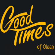 This is the restaurant logo for Good Times of Olean