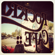 This is the restaurant logo for Rockridge Cafe