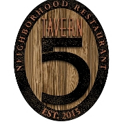 This is the restaurant logo for Tavern 5