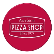 This is the restaurant logo for Antioch Pizza Shop