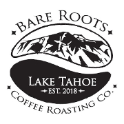 This is the restaurant logo for Bare Roots Artisian Coffee Roasting Co.