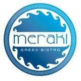 This is the restaurant logo for Meraki Greek Bistro