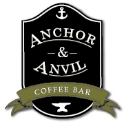 This is the restaurant logo for Anchor & Anvil Coffee Bar