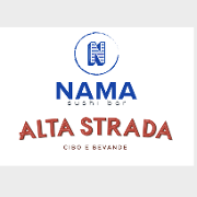 This is the restaurant logo for Alta Strada Italian Restaurant, Nama Sushi Bar & Little Prince Pizza