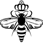 This is the restaurant logo for Queen Bee Coffee Company