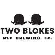 This is the restaurant logo for Two Blokes Brewing