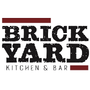 This is the restaurant logo for Brickyard Kitchen & Bar