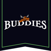 This is the restaurant logo for Buddies Grill