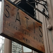 This is the restaurant logo for Satis Bistro