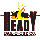 This is the restaurant logo for Heady Bar-B-Que Company