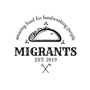 This is the restaurant logo for Migrants