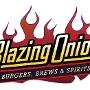 Restaurant logo for Blazing Onion Burgers, Brews & Spirits
