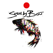 This is the restaurant logo for Sushi By Bou