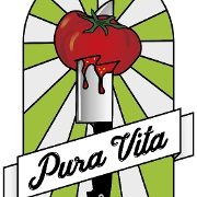 This is the restaurant logo for Pura Vita