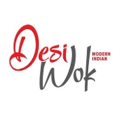 This is the restaurant logo for Desi Wok