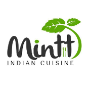 This is the restaurant logo for Mintt Indian Cuisine