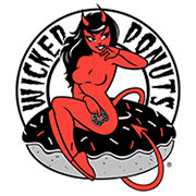 This is the restaurant logo for Wicked Donuts