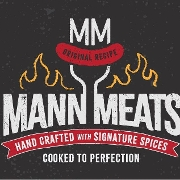 This is the restaurant logo for Mann Meats