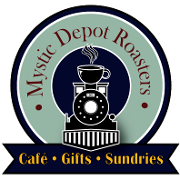 This is the restaurant logo for Mystic Depot Roasters