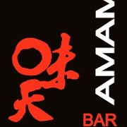 This is the restaurant logo for Amami Sushi Bar and Restaurant